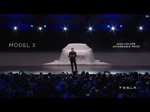 Tesla Model 3 Launch Event in HD