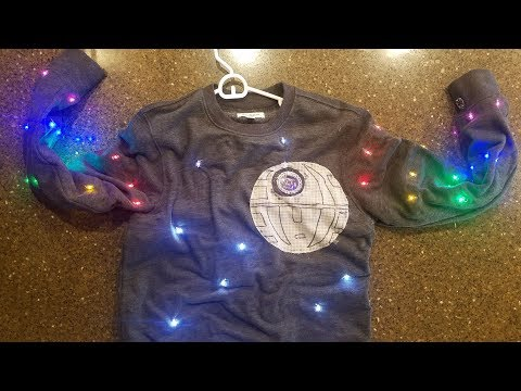 Arduino Lilypad Death Star Christmas Sweater Step-by-step Tutorial