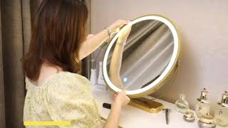 수납형화장대 서랍장화장대 LED 예쁜 북유럽 화이트