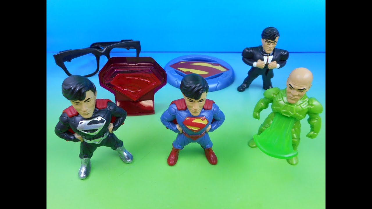 2015 Dc Comics Superman Set Of 7 Sonic Drive In Kid S Meal