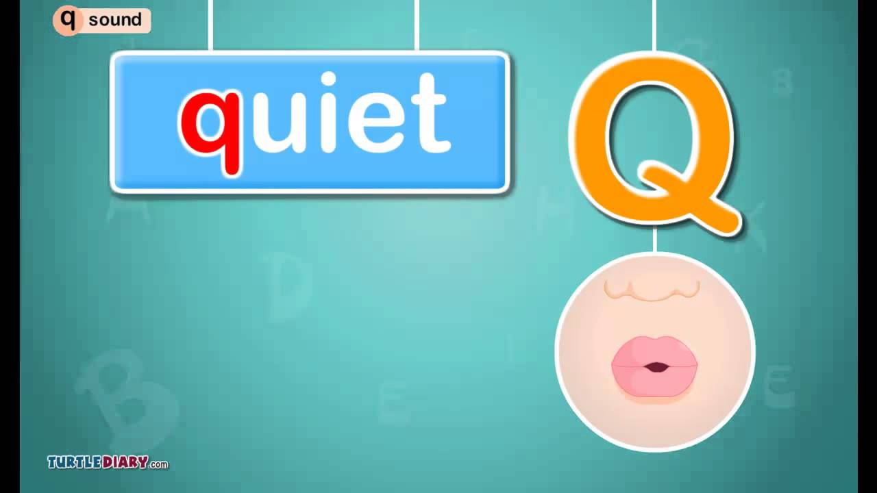 Letter Q Sound Phonics By Turtlediary Youtube