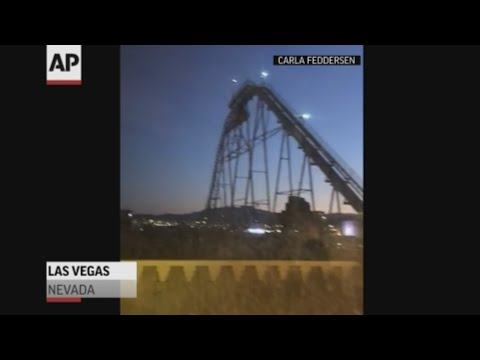 Your Morning Show - Las Vegas Roller Coaster runs during Earthquake