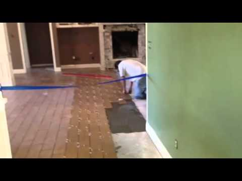 How To Install Wood Plank Tile Mikeandmikeremodeling Youtube