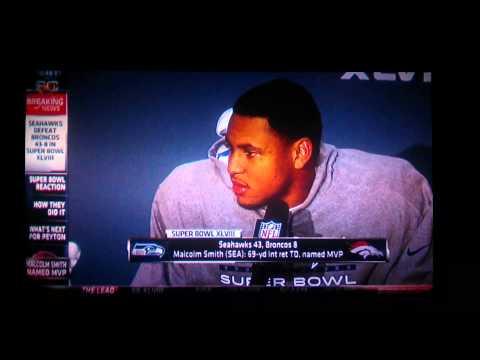 Seahawks MVP Superbowl interview interruption