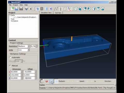 Tutorial Fresado en 3D con CamBam, Openscam y Mach3