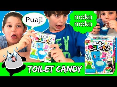 TOILET CANDY Moko Moko * Probando DULCES JAPONESES en un inodoro!