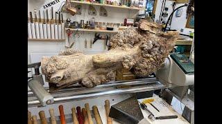 Woodturning -  The Elephants Leg