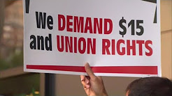 Fast-food workers demand $15 minimum wage