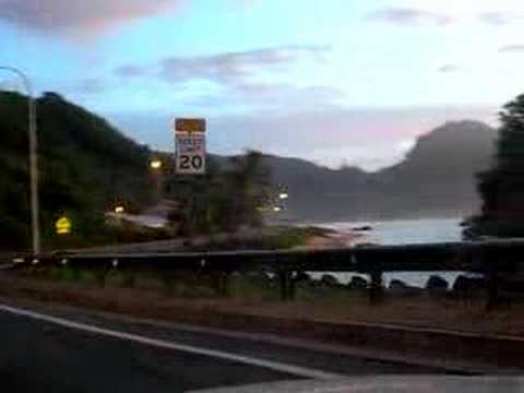 American Samoa sunrise drive