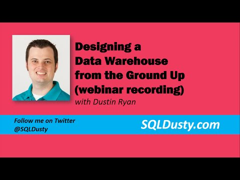 Designing a Data Warehouse from the Ground Up (periscope broadcast)