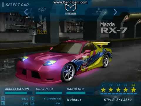 Need For Speed Underground All Cars Customized Newest Youtube