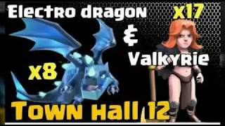 New best. Town hall 12 (ELECTRO VALK) 3 STAR STATERGY. TRY IT NOW. CLASH OF CLANS. COC..