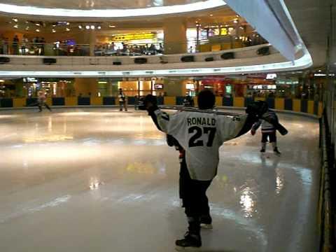 Jakarta Ice Hockey player warming up @Sky Rink, Taman Anggrek