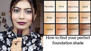 How To Choose The Right Foundation Shade | Beginners special | Rinkal soni