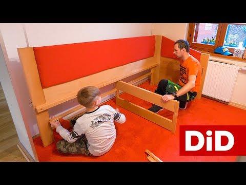 838. Drewniane łóżko dziecięce z dużymi szufladami - cz. 4