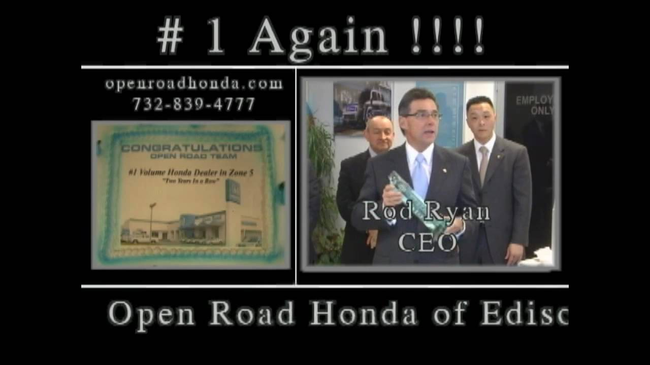 Open Road Honda Of Edison #1 Again !!!