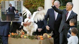 بالفيديو.. أوباما يطلق سراح آخر «ديك رومي» في عيد الشكر قبل رحيله