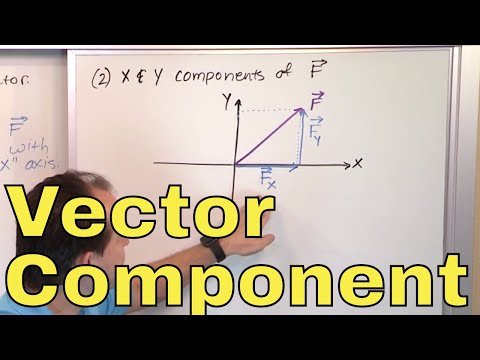 17 - Calculating Vector Components in Physics, Part 1 (Component form of a Vector)
