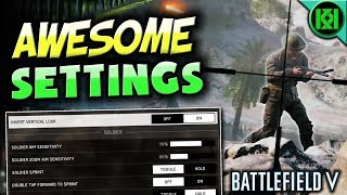 Battlefield 5: BEST SETTINGS + Sensitivity for Console (PS4/Xbox) Battlefield V Gameplay (BF5/BFV)