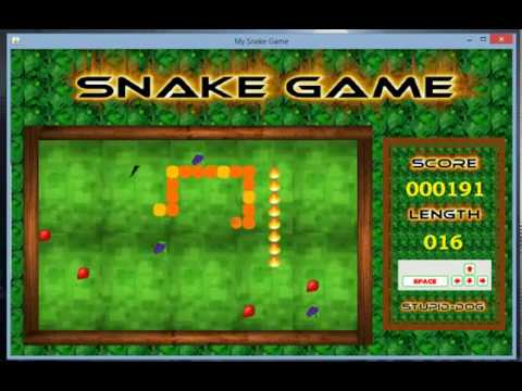 Snake Game Application With Java Swing