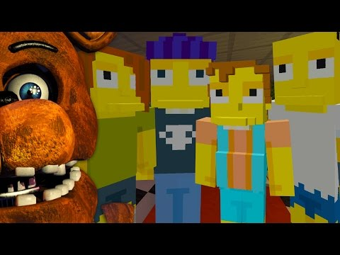 Minecraft The Simpsons at five nights at freddy's [4] (Minecraft Xbox Roleplay)