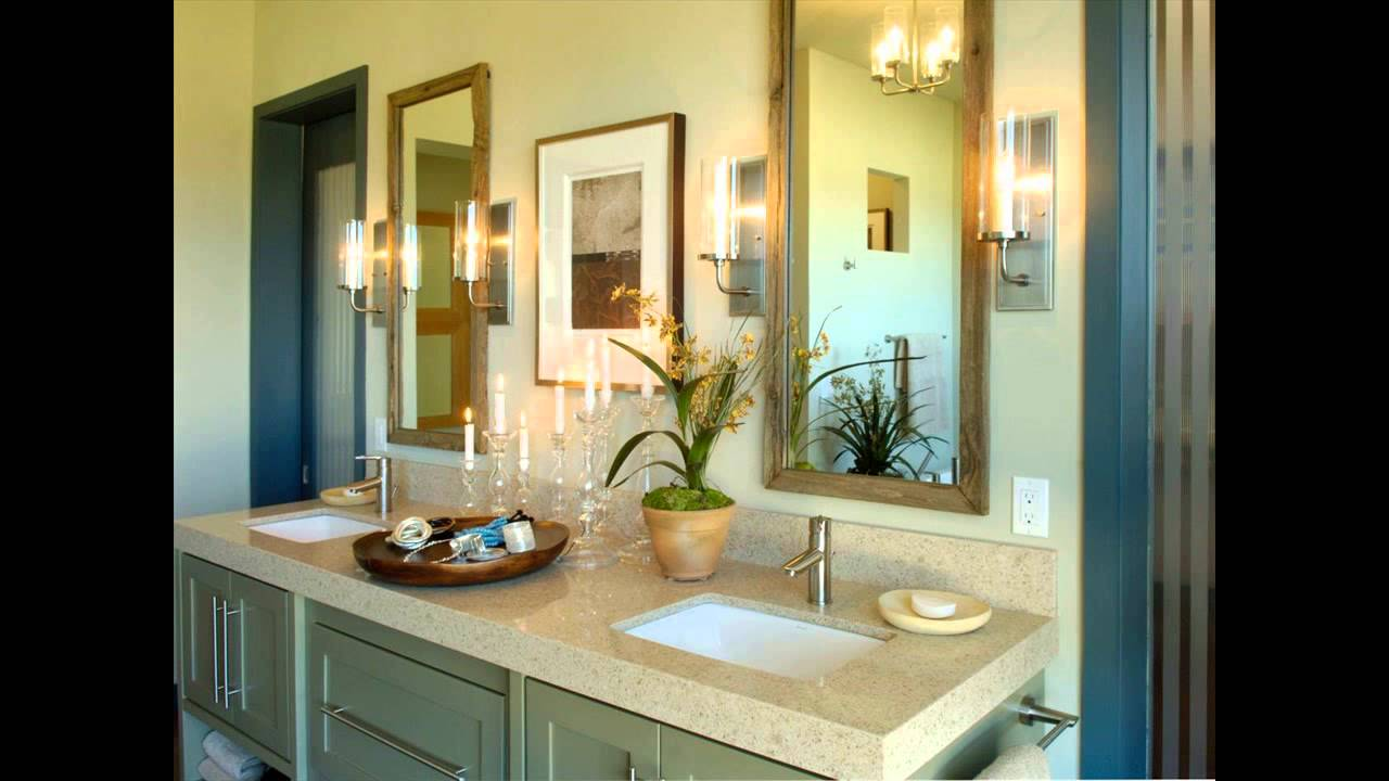 How to decorate a bathroom with a jacuzzi tub youtube for Bathroom jacuzzi decor