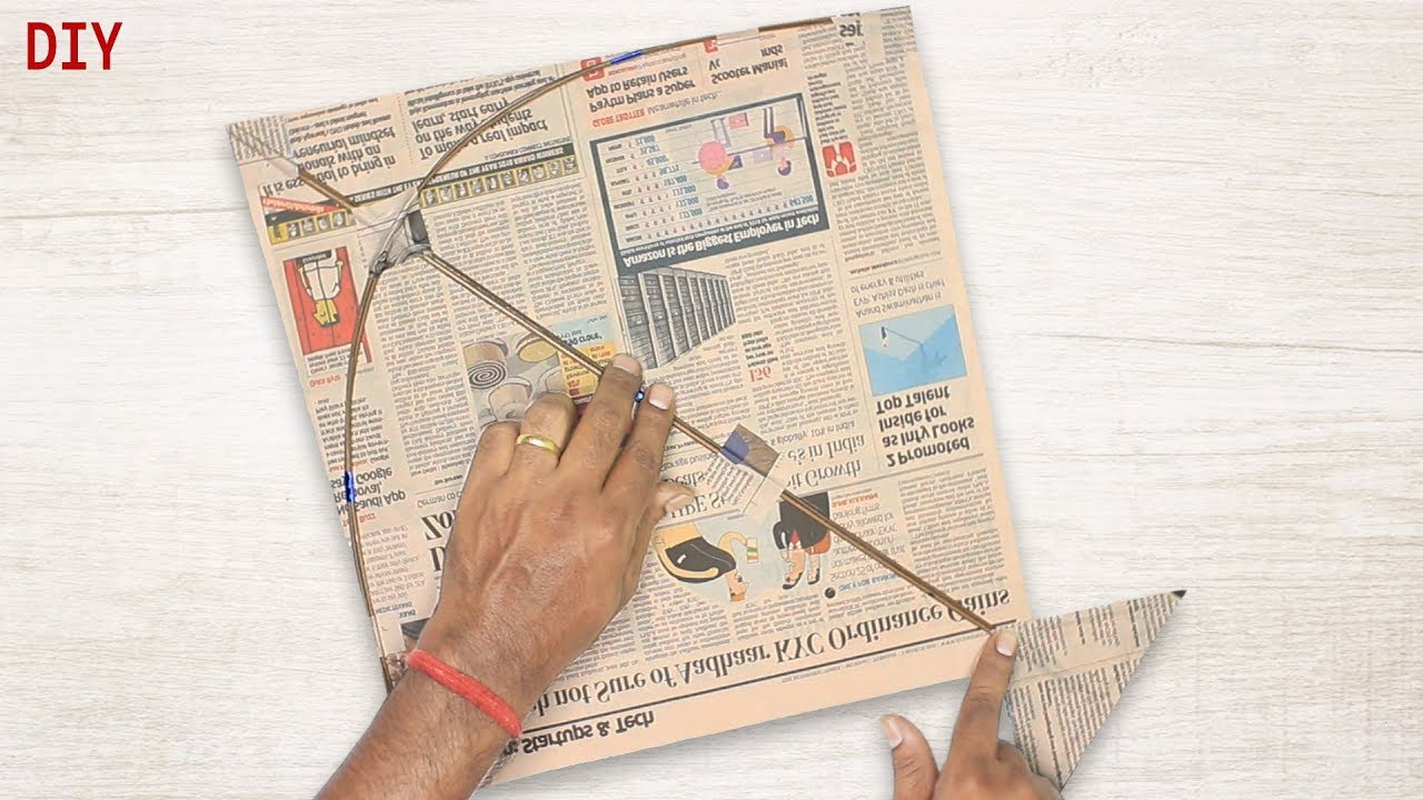 How to Make Newspaper Kite At Home | DIY Kite -Art Crafts And Ideas By SD