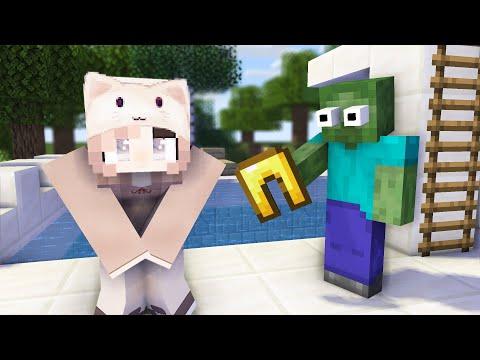 Monster School : GIRLS VS BOYS SWIMMING CHALLENGE + CRAFTING - Minecraft Animation