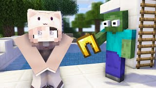 Monster School : GIRLS VS BOYS SWIMMING CHALLENGE + CRAFTING - Minecraft Animation