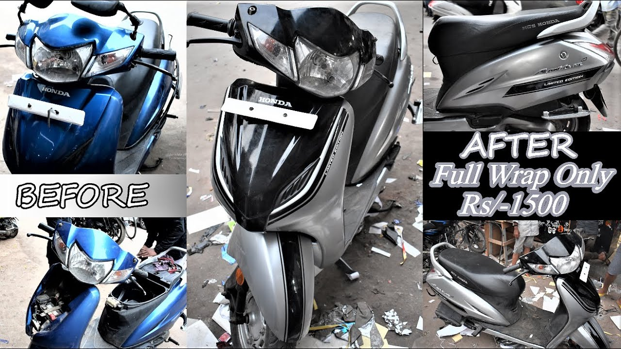 #activa #honda activa wrapping in 2020 limited edition (part3)