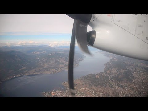 Air Canada Express DHC-8-300Q Dash 8 Cabin Takeoff From CYLW