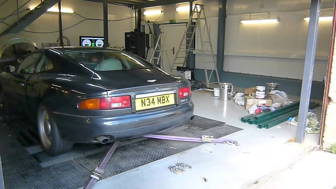 aston martin db7 rolling road exhaust noise - youtube