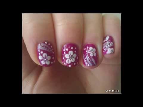 Diseños De Uñas Con Flores Bonitas. Decoraciones de Uñas