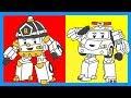 Робокар Поли - Раскраска - Мультик с машинками - Учим цвета - Часть 5. Robocar P