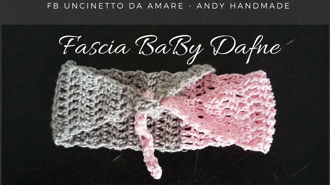 fascia per capelli neonata uncinetto