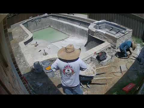 Riverbend Sandler Pools - Timelapse of Pool Build, Plano, TX