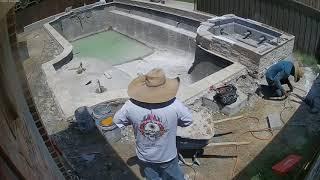 Riverbend Sandler Pools - Timelapse of Pool Build, Plano, TX
