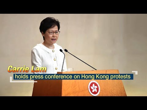 Live: Carrie Lam holds press conference on Hong Kong protests 林郑月娥召开新闻发布会