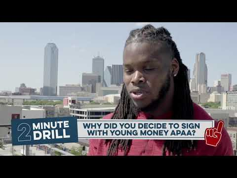 2 Minute Drill with Malik Jefferson during NFL Draft Weekend