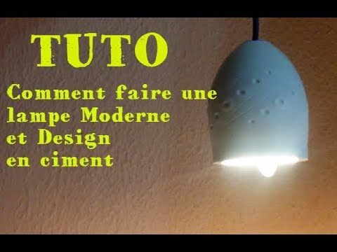 tuto comment faire une lampe design en ciment diy design. Black Bedroom Furniture Sets. Home Design Ideas