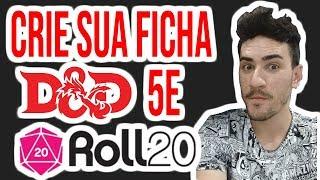 CRIANDO FICHA DE D&D 5° EDIÇÃO NO ROLL20 DO ZERO - TUTORIAL - PARTE 1