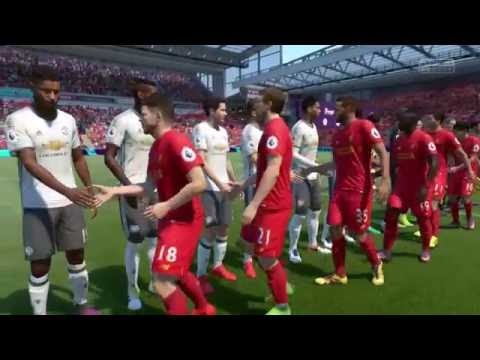 Manchester United vs Liverpool - FIFA 17 - PS4 - Premier League - Away Match