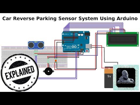 Car Parking Sensor System Using Arduino - YouTube