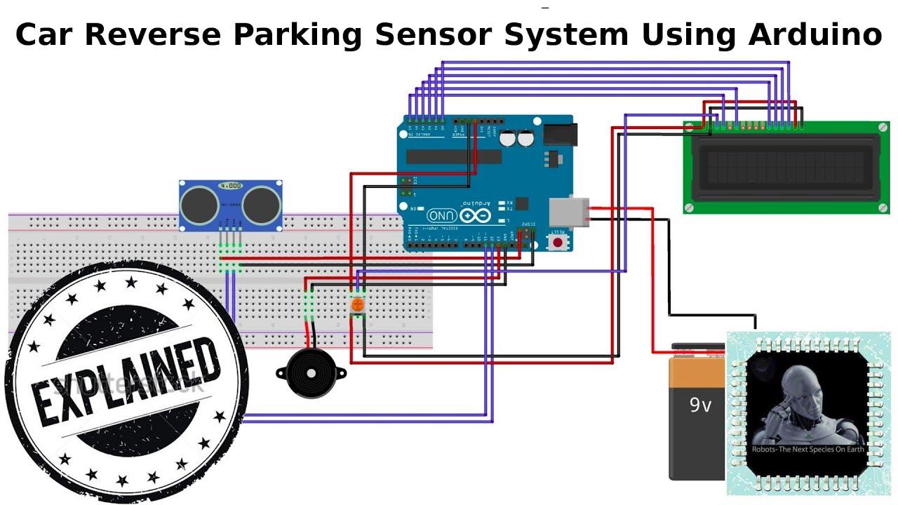 Car Parking Sensor System Using Arduino Youtube