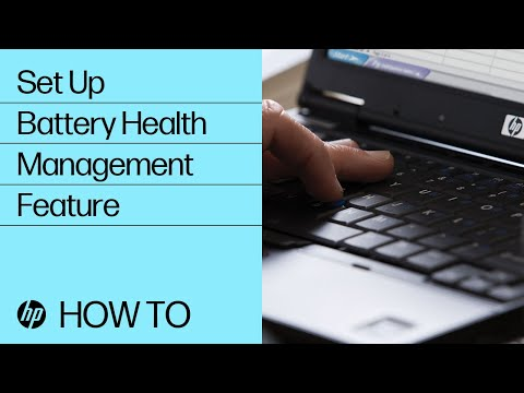 Setting Up the Battery Health Management Feature   HP Business Computers   @HPSupport