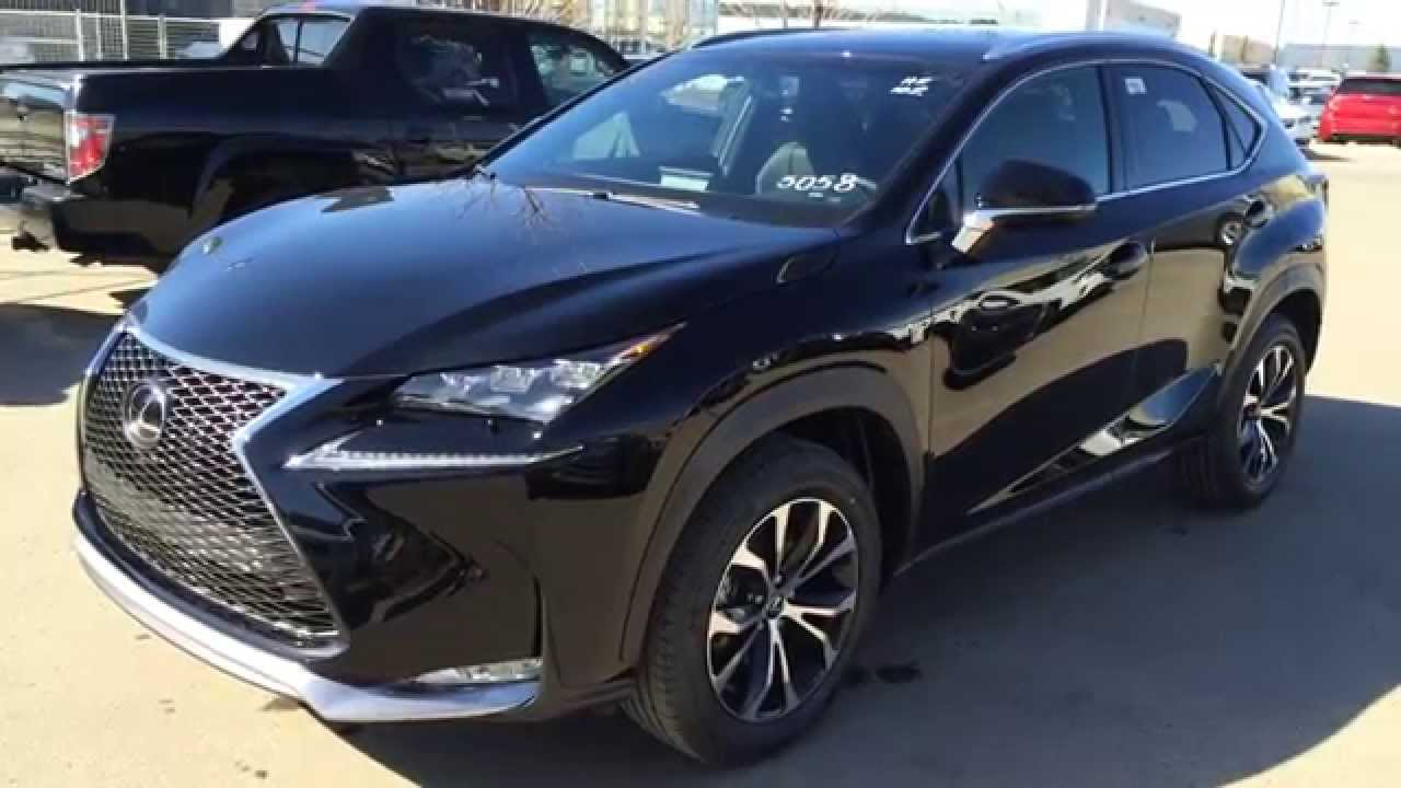 new black 2015 lexus nx 200t awd f sport series 1 review