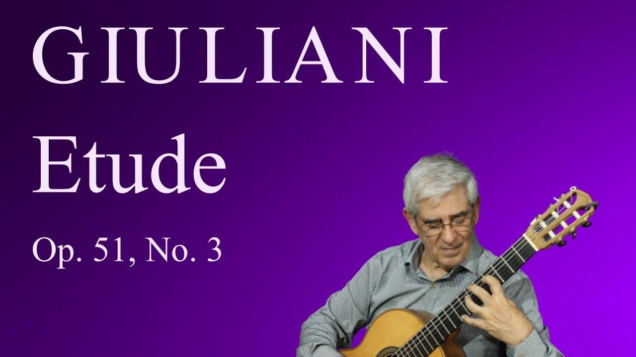 Etude, Op. 51, No. 3 (M. Giuliani)
