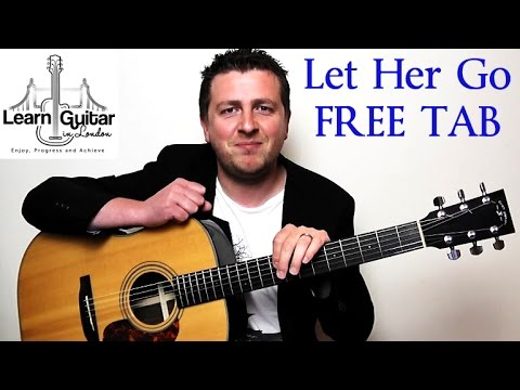 Let Her Go - Easy Beginner Guitar Tutorial - Passenger
