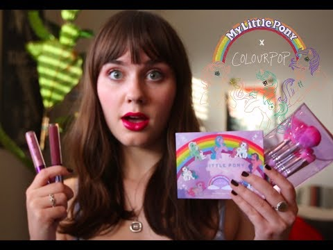 My Little Pony x ColourPop Review and Try-On (ohmygoditssocute)
