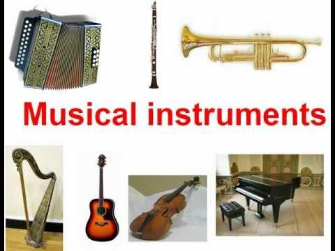 Musical instruments на английском с переводом
